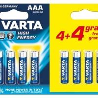 Foto van HIGH ENERGY ALKALINE AAA / LR03, 1.5V PROMOPACK 4 + 4 st. 4903.121.448 (blister)