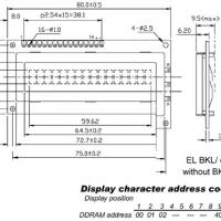 Foto van LCD 16 x 1 BOTTOM VIEW TRANSFLECTIEF MET ACHTERGRONDVERLICHTING