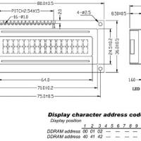 Foto van LCD 16 x 2 BOTTOM VIEW REFLECTIEF