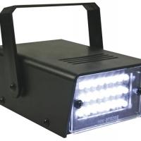 Foto van MINIATUUR WITTE LEDSTROBOSCOOP - 24 LEDS