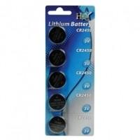 Foto van CR2450 lithiumbatterij 3 V 5-blister