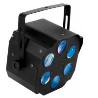 Foto van KOMBO - EFFECT MET 6 LENZEN - 3 x 3W R+G+B LEDS