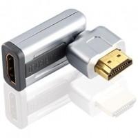 Foto van High Speed HDMI met Ethernet Adapter Draaibaar HDMI-Connector - HDMI Female Zilver