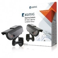 Foto van CCTV dummy camera with solar panel and IR LEDs that light up in dark