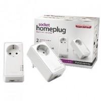 Foto van Socket homeplug 500 Mbps dual pack