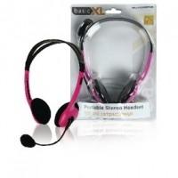 Foto van Draagbare stereo headset roze