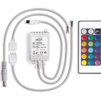 Foto van RGB LED-CONTROLLER MET AFSTANDSBEDIENING (24 KNOPPEN)