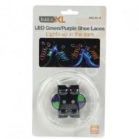 Foto van LED schoenveters groen / paars