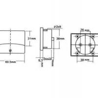 Foto van ANALOGE PANEELMETER VOOR DC STROOMMETINGEN 50µA DC / 60 x 47mm