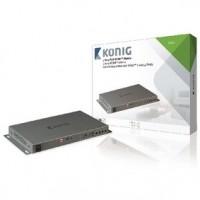 Foto van 2 x 4-Poorts HDMI Matrix Donkergrijs