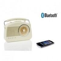 Foto van Retroradio met draadloze Bluetooth-technologie