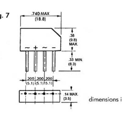 GELIJKRICHTER 250V-1.5A (B250C-2300-1500)