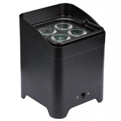 FREELED 44B - 4 x 8 W RGBW-LED MET DRAADLOZE DMX-STURING - BATTERIJVOEDING