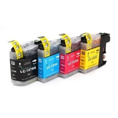 Multipack for Brother LC 127 BK, LC 125 C, M en Y