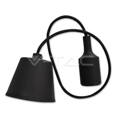 Snoerpendel E27 zwart 100cm