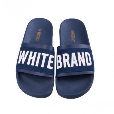 THE WHITE BRAND ELASTIC MINIMAL NAVY - SLIPPER