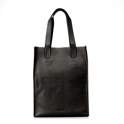 MYOMY MY PAPER BAG LONG HANDLE ZIP ANACONDA BLACK - TAS