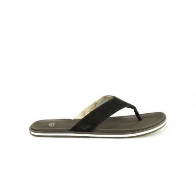 UGG BEACH FLIP BLACK - SLIPPER