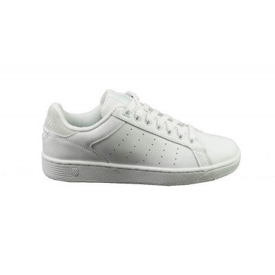 K-SWISS CLEAN COURT CMF WHITE/HUSHED GREEN - SNEAKER