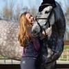 Foto van Kingsland Kaya Knee Grip Dames Rijbroek, Blauw Ombre