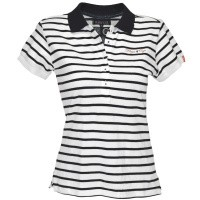 Flags and Cup Joya Dames Polo Wit Blauw