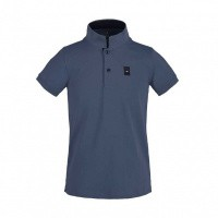 Foto van Kingsland Ales Tec Pique Polo Shirt Jongens, Blauw China