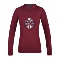 Foto van Kingsland Anatoli Knitted Sweater Dames, Rood Burgundy