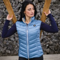 Flags and Cup Henna Dames Bodywarmer Blauw