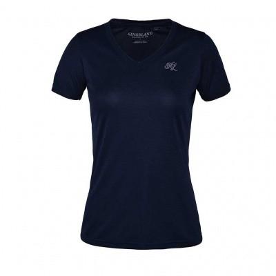 Foto van Kingsland Desma Dames Shirt met V-hals, Blauw