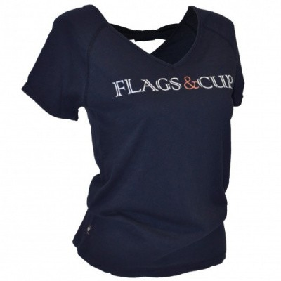 Foto van Flags and Cup Amazula Dames T-Shirt Blauw