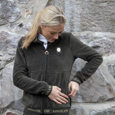 Foto van Kingsland Dekatja Dames Fleece Vest Groen/Zwart