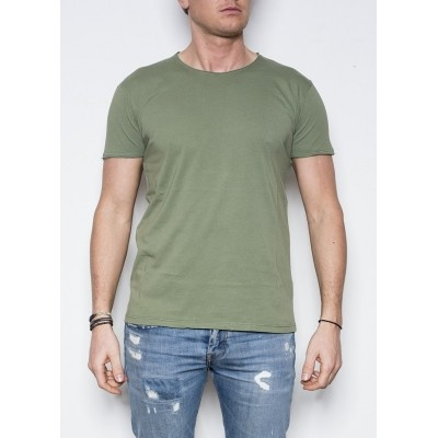 Foto van Kris K O-Neck T-shirt Army green