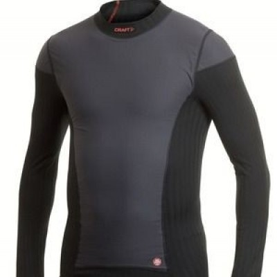 craft be active extreme windstopper shirt lange mouw/zwart/heren