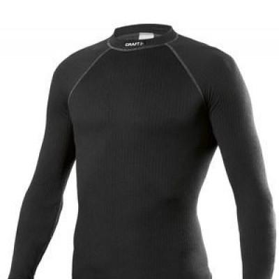 craft be active shirt lange mouw/zwart/heren