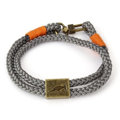 Foto van Bracelet Orlando Grey/Orange