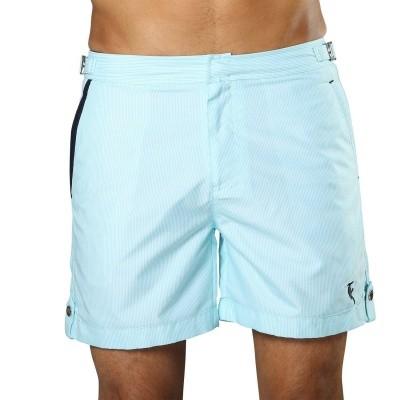 Foto van Swim Short Tampa Stripes Maya Blue