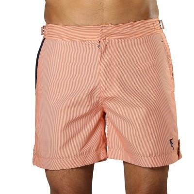 Foto van Swim Short Tampa Stripes Tangerine Orange