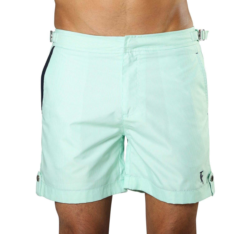 Swim Short Tampa Stripes Hint of Mint