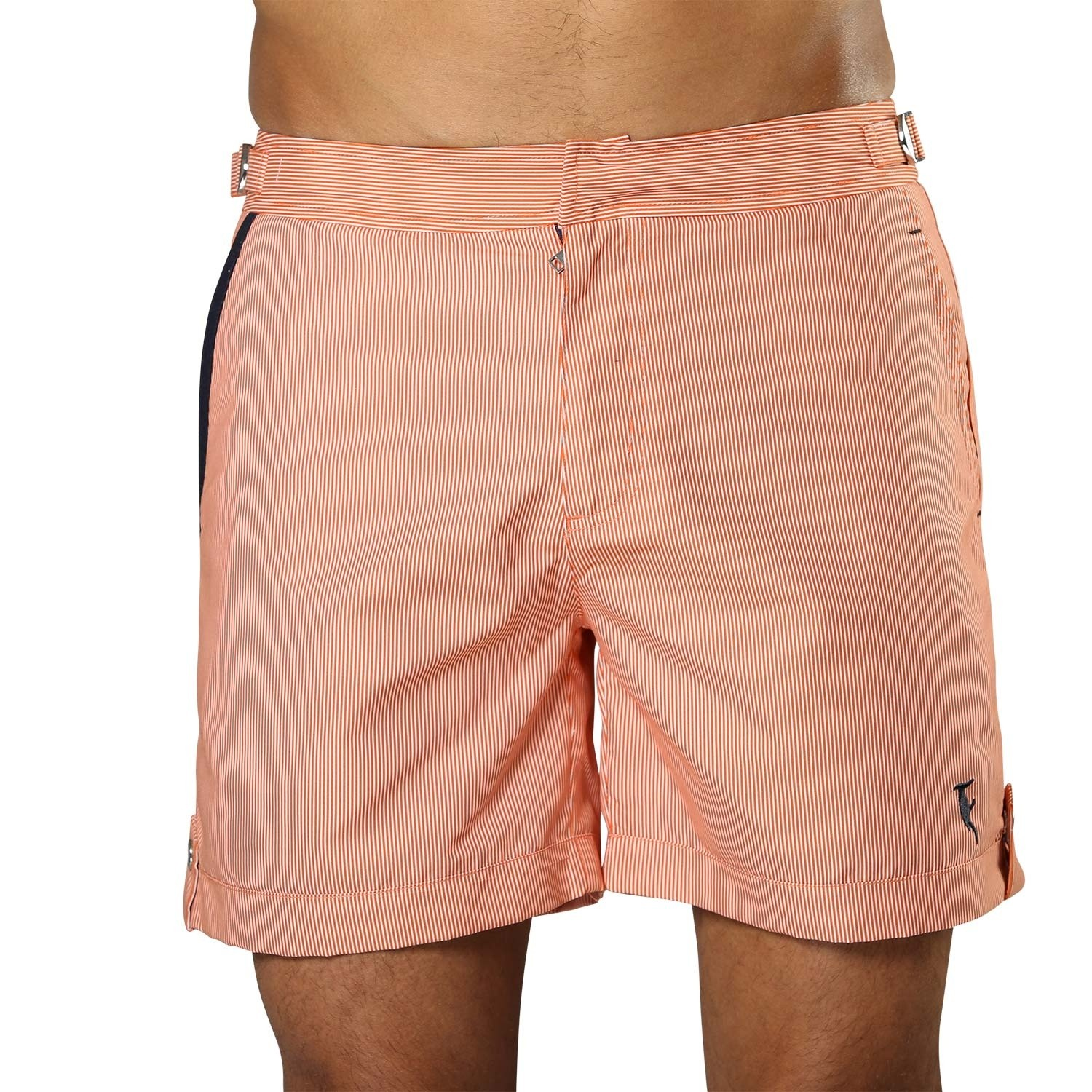 Swim Short Tampa Stripes Tangerine Orange