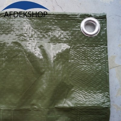 Foto van PE dekkleed 150 gr/m2 Olijfgroen