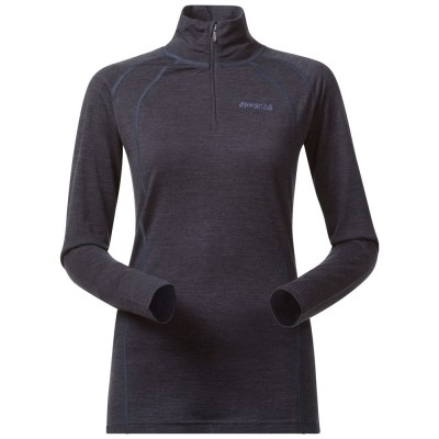 Foto van Bergans Fjellrapp Half Zip Night Blue Melange Dames