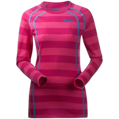 Foto van Bergans Fjellrapp Shirt Hot Pink Striped Dames