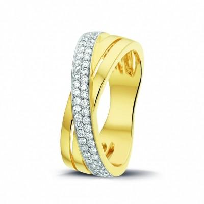 Foto van 14 crt gouden ring met 0.32 crt H VS/SI briljant