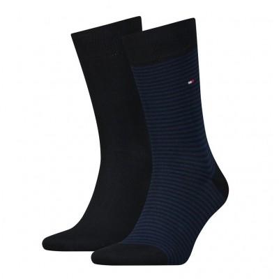 Foto van Tommy Hilfiger 2 pack heren sokken 342029001 054 tommy blue