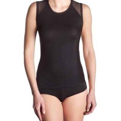 Foto van Oroblu Micromodal Sweater Sleeveless Perfect line VOBT01592 Ivory