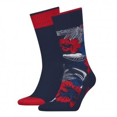Foto van LEVIS 2 pack socks 168SF HAWAIIAN PRINT RED / GREY / BLUE 983006001082039