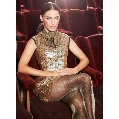 Foto van Oroblu Diamonds feest panty OR2140438 black met zilver of goud