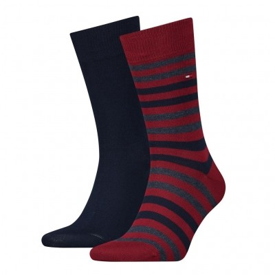 Foto van Tommy Hilfiger 2 pack heren sokken 472001001 845 tibetan red