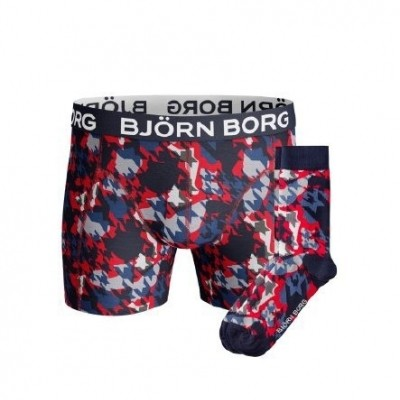 Björn Borg Socks & Short for him giftbox HOUNDTOOTH XMAS_BOX 1741-1423