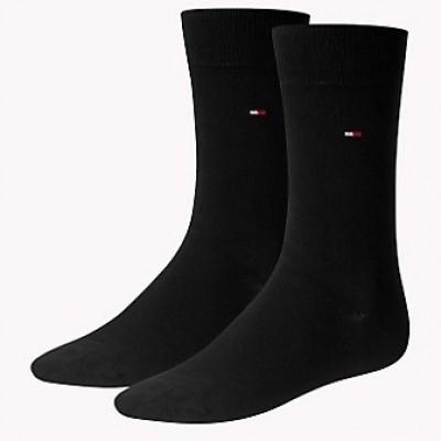 Foto van Tommy Hilfiger 2 pack heren sokken 371111 200 black